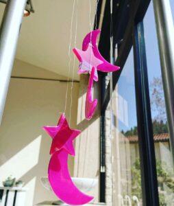 石の風鈴ピンク星